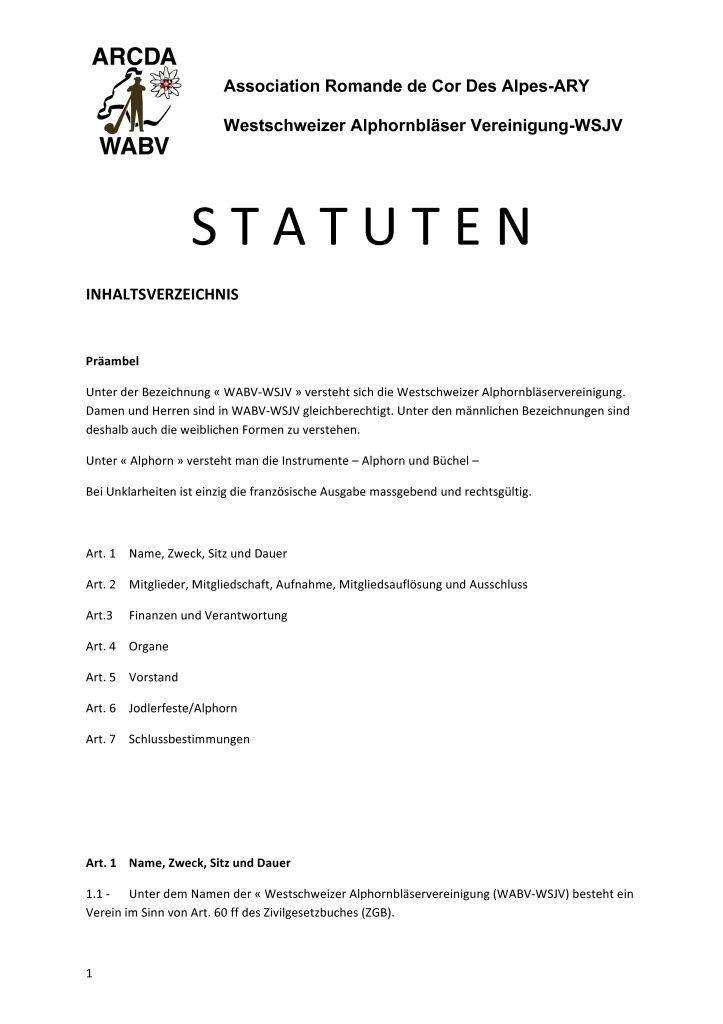 thumbnail of STATUTEN – de