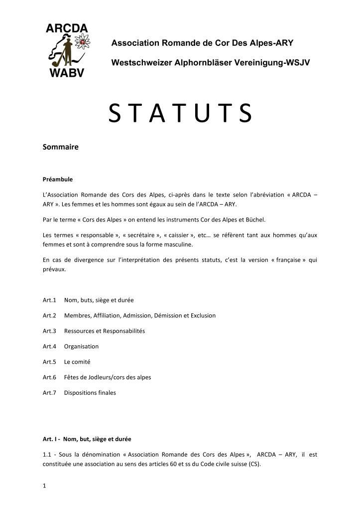 thumbnail of STATUTS – fr